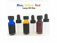 Red, Blue, & Yellow Lamp Oil Dye Pack - Case of 12
