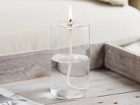 Firefly Fuel: Pillar Glass Oil Candle - Case of 12