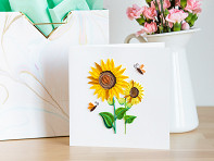 Quilling Card: Floral Blank Cards - Case of 6