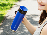 WOW GEAR: 360º Stainless Steel Water Bottle - Case of 12