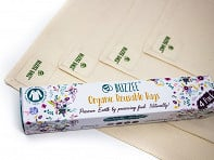 Buzzee Wraps: Organic Eco-Friendly Food Bag - 4 Pack - Case of 5
