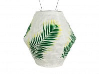 Allsop Home & Garden: Soji Canvas Round Diamond Solar Lantern - Case of 8