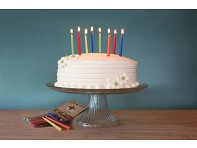 Big Dipper: Dozen Multicolored Beeswax Birthday Candles - Case of 10