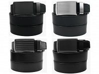 SlideBelts: Black Leather Collection - Case of 12
