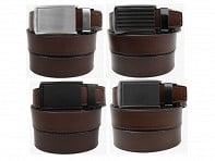 SlideBelts: Mocha Leather Collection - Case of 12