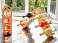 Wine Bottle Carrier & Rack - Case of 12