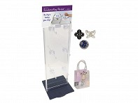 Finders Key Purse: 12 Hook Acrylic Counter Spinner