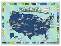 Family Travel Map - Case of 24