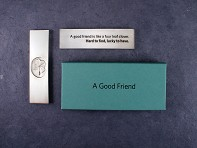 Vilmain: Pewter Paperweight - Good Friend