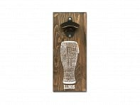 Torched Products: State Typography Wall Mounted Bottle Opener - Case of 6