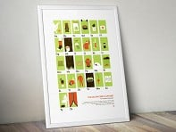 My Outdoor Alphabet: Backpacker's Alphabet Screen Printed Poster - Case of 10