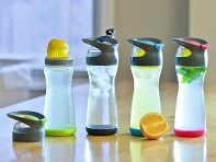 Creo: Wherever Water Fruit Infuser 20 oz. Glass Travel Bottle - Case of 4