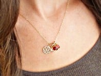 Vintage Stamp Jewels: Family Tree Necklace - 18""