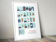 Paddler's Alphabet Screen Printed Poster - Case of 10