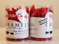 Red Kite Candy: Sea Salt Caramels - Individually Wrapped Units - Case of 110
