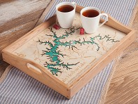 Lake Art: Custom Made Serving Trays
