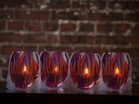 LED Candle Lanterns - Set of 4
