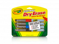 IdeaPaint: Crayola Dry Erase Markers - 4 Pack - Case of 12