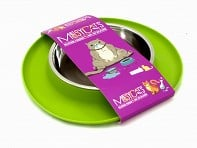 Messy Cats Silicone Feeder with Stainless Steel Bowl - Case of 6