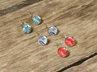 Postali: Authentic Stamp Earrings - Assorted - Case of 10