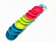 Messy Mutts: Medium Silicone Collapsible Bowl - Clip Strip - Case of 24