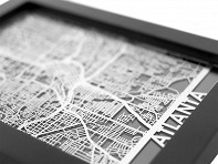 Cut Maps: Stainless Steel Table Map - Sample