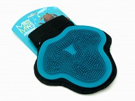 Messy Mutts: Large Blue Silicone Grooming Glove - Case of 6