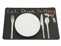 Scribbles Chalkboard Placemats - Set of 4 - Case of 12