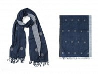 PAZ Collective: Maina Dots Handwoven Scarf
