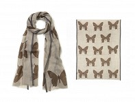 PAZ Collective: Mariposa Scarf - Brown