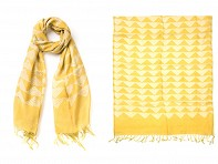 PAZ Collective: Mountain Peak Scarf - Yellow