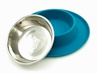 Messy Mutts: Single Silicone Feeder with Stainless Steel Bowl - Case of 6