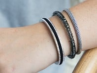 bittersweet: Stainless Steel Hair Tie Bracelet - Allure Design