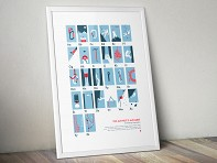 My Outdoor Alphabet: Alpinist's Alphabet Screen Printed Poster - Case of 10