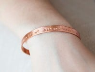 Alloy Jewelry: Thin Copper Quote Cuff