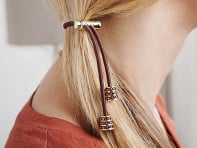 Crystal Sliding Hair Tie - Case of 4