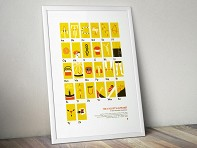 My Outdoor Alphabet: Cyclist's Alphabet Screen Printed Poster - Case of 10