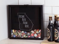 Beer Cap Trap: Shadow Box - Drink Beer From Here