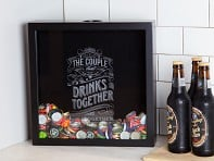Beer Cap Trap: Cap and Cork Shadow Boxes