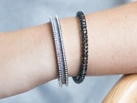 Stainless Steel Hair Tie Bracelet - Elegance Design