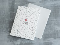 Design With Heart: General Love Single Cards - Case of 6