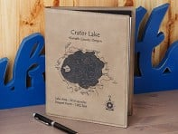 Lake Art: Custom Made Leather Notepad