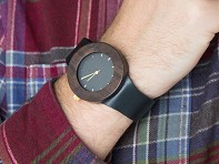 Analog Watch Co.: Leather & Blackwood Carpenter Watch