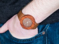 Analog Watch Co.: Makore & Red Sanders Carpenter Watch
