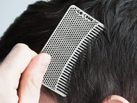 Go-Comb: Steel Fine Tooth Wallet Comb - Sample