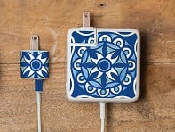 Meo: Moroccan Tile Charger Label - Sample