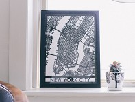 Cut Maps: Laser Cut Maps of US and International Cities - Case of 3