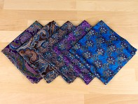 Würkin Stiffs: Pocket Square - Paisley Collection - Case of 20
