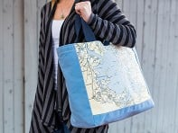 Not for Navigation: Custom Nautical Side Tote - Case of 2