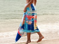 Simple Sarongs: Sarong & Towel Cover Up - Sunset Watercolors
